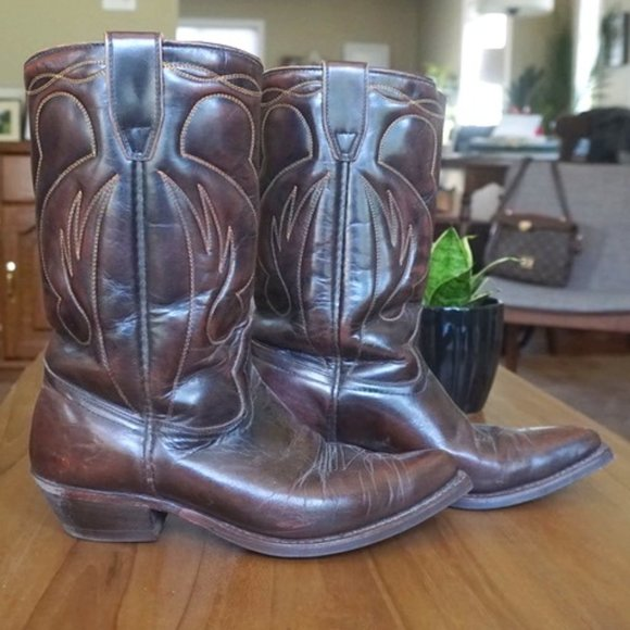 Incredible Vintage Leather Cowboy Boots